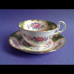 Other - A.B.J. Grafton Pink Floral Teacup And Saucer